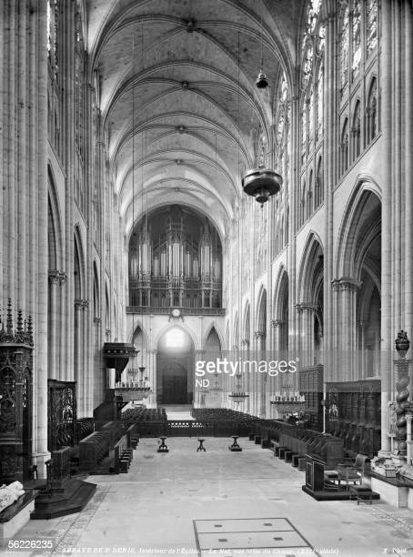 Abbey of SaintDenis Interior of the church The nave seen from the choir