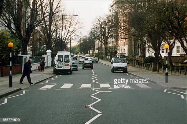 Abbey Road London Britain 1996 Zebra Crossing In Abbey Road London Britain