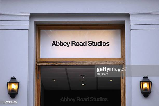 Abbey Road Studios in St John's Wood on March 5 2012 in London England Abbey Road in North London has been made famous by 1960s bands such as The...