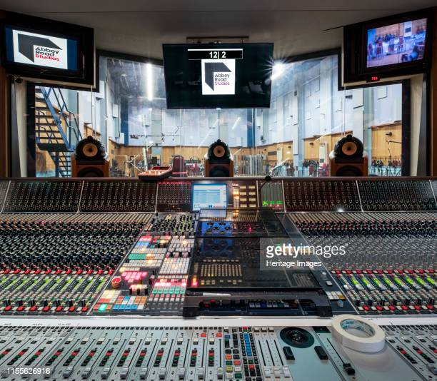 Abbey Road Studios St John's Wood Westminster London 2018 Interior view of Studio One used primarily for orchestral and cinema film recordings with...