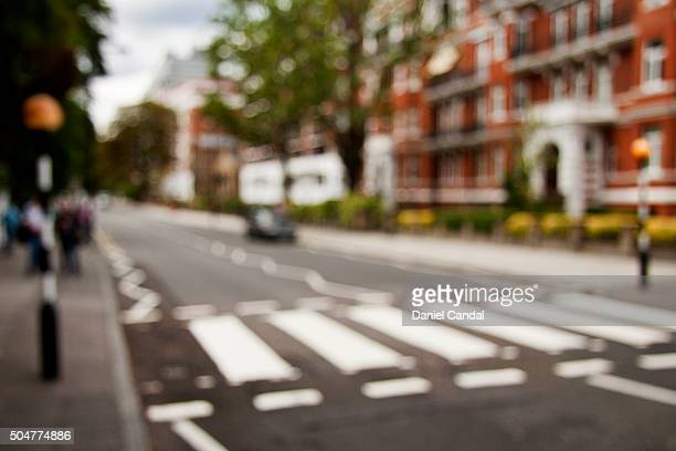 abbey road zebra crossing, london (united kingdom) - abbey road stock photos and pictures