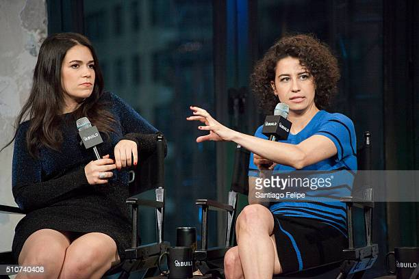 """Abbi Jacobson and Ilana Glazer attend AOL Build Speaker Series - Ilana Glazer and Abbi Jacobson, """"Broad City"""" at AOL Studios In New York on February..."""
