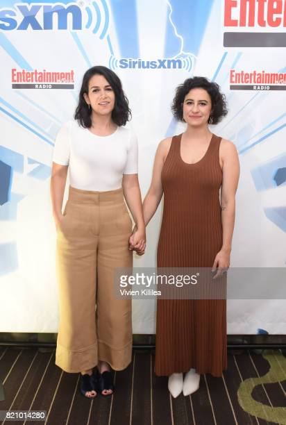 Abbi Jacobson and Ilana Glazer attend SiriusXM's Entertainment Weekly Radio Channel Broadcasts From Comic Con 2017 at Hard Rock Hotel San Diego on...