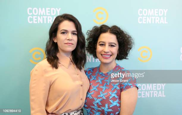Abbi Jacobson and Ilana Glazer attend the 2019 Comedy Central Press Day on January 11 2019 in Hollywood California