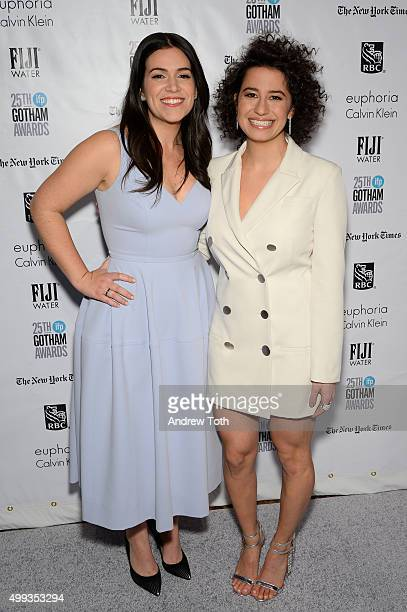 Abbi Jacobson and Ilana Glazer attend the 25th annual Gotham Independent Film Awards at Cipriani Wall Street on November 30 2015 in New York City