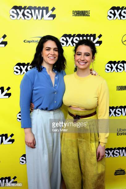 Abbi Jacobson and Ilana Glazer attend the premiere of the 'Broad City' series finale at ZACH Theatre on March 10 2019 in Austin Texas