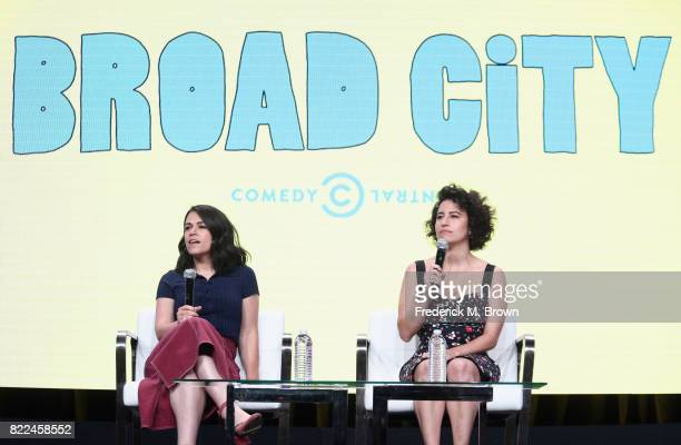 Abbi Jacobson and Ilana Glazer of the series 'Broad City' speak onstage during the Comedy Central/Viacom portion of the 2017 Summer Television...
