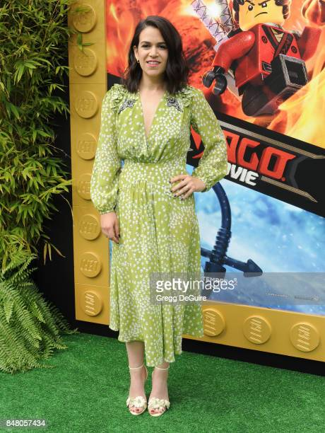 Abbi Jacobson arrives at the premiere of Warner Bros Pictures' 'The LEGO Ninjago Movie' at Regency Village Theatre on September 16 2017 in Westwood...