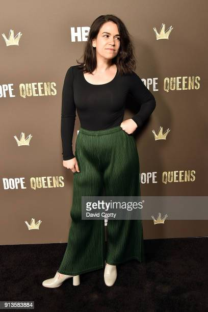 Abbi Jacobson attends HBO's '2 Dope Queens' Los Angeles Slumber Party Premiere at NeueHouse Hollywood on February 2 2018 in Los Angeles California