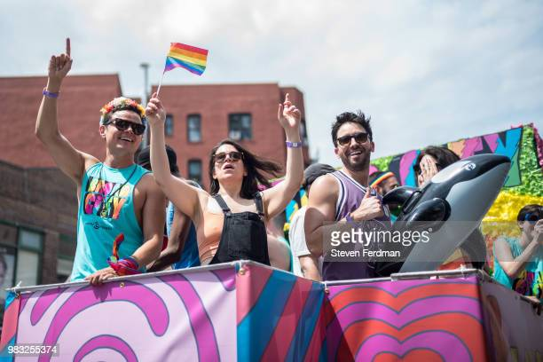 Abbi Jacobson attends the 2018 New York City Pride March on June 24 2018 in New York City