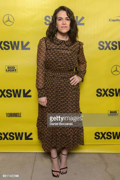 Abbi Jacobson attends the 6 Balloons red carpet premiere during SXSW 2018 on March 12 2018 in Austin Texas