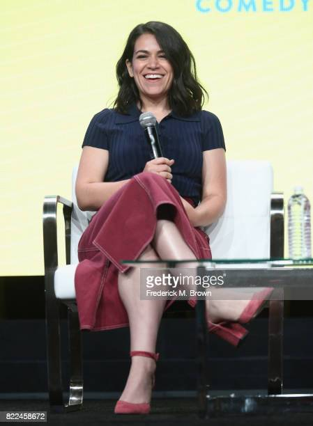 Abbi Jacobson of the series 'Broad City' speaks onstage during the Comedy Central/Viacom portion of the 2017 Summer Television Critics Association...