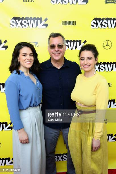 Abbi Jacobson President of Comedy Central Paramount Network and TV Land Kent Alterman and Ilana Glazer attend the premiere of the 'Broad City' series...