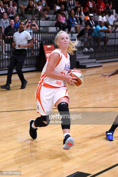 Abbie Barr of South Girls drives to the basket against Midwest Girls during the Jr NBA World Championship on August 7 2018 at the ESPN Wide World of...
