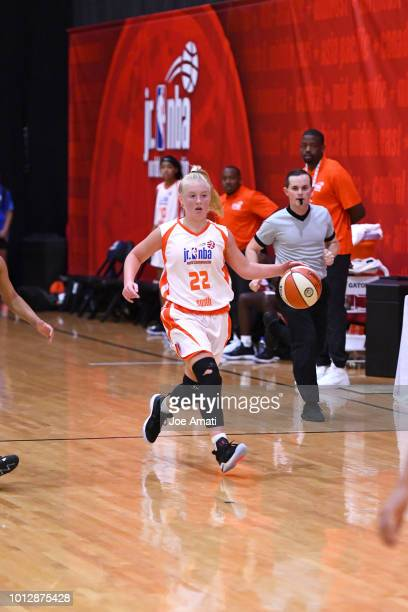 Abbie Barr of South Girls handles the ball against Midwest Girls during the Jr NBA World Championship on August 7 2018 at the ESPN Wide World of...