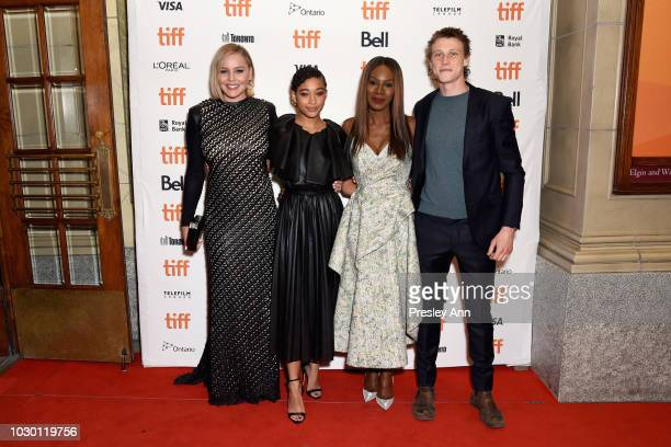 Abbie Cornish Amandla Stenberg Amma Asante and George MacKay attend the Where Hands Touch premiere during 2018 Toronto International Film Festival at...