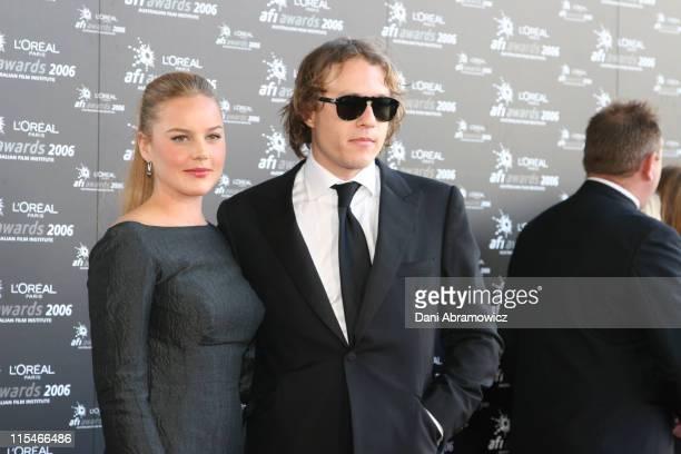 Abbie Cornish and Heath Ledger during L'Oreal Paris 2006 AFI Awards Arrivals at Melbourne Exhibition Centre in Melbourne VIC Australia