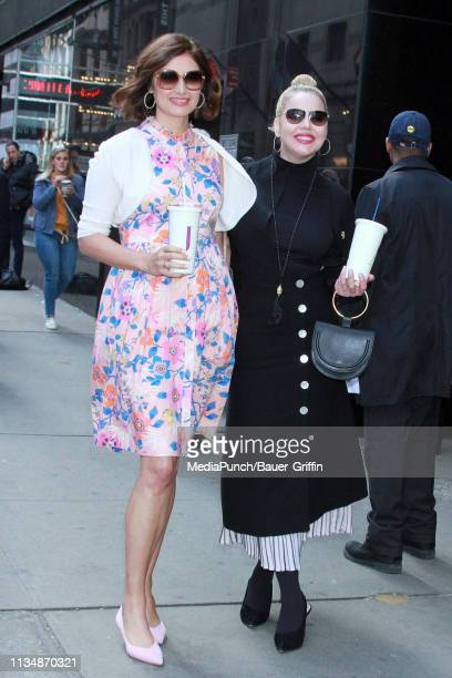 Abbie Cornish and Jacqueline King are seen on April 04 2019 in New York City