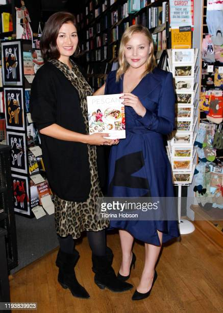 Abbie Cornish and Jacqueline King celebrate their new book 'Pescan A Fell Good Cookbook' at Book Soup on December 13 2019 in West Hollywood California