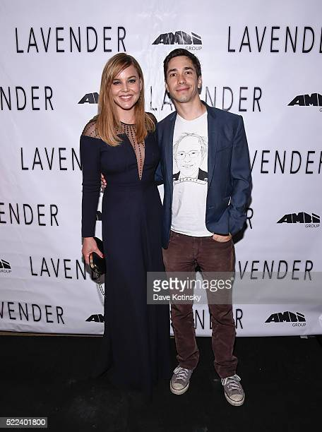 Abbie Cornish and Justin Long attend the LAVENDER afterparty at Tribeca Film Festival 2016 on April 18 2016 in New York City