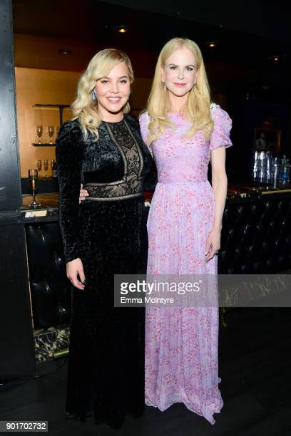 Abbie Cornish and Nicole Kidman attend the 7th AACTA International Awards at Avalon Hollywood in Los Angeles on January 5 2018 in Hollywood California
