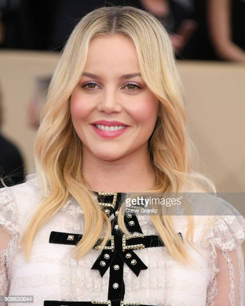 Abbie Cornish arrives at the 24th Annual Screen ActorsGuild Awards at The Shrine Auditorium on January 21 2018 in Los Angeles California