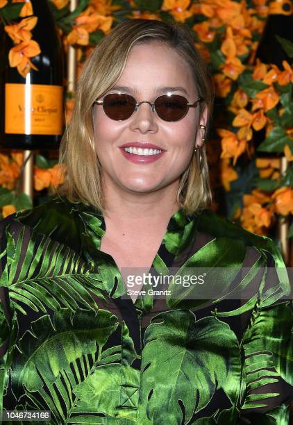 Abbie Cornish arrives at the 9th Annual Veuve Clicquot Polo Classic Los Angeles at Will Rogers State Historic Park on October 6 2018 in Pacific...