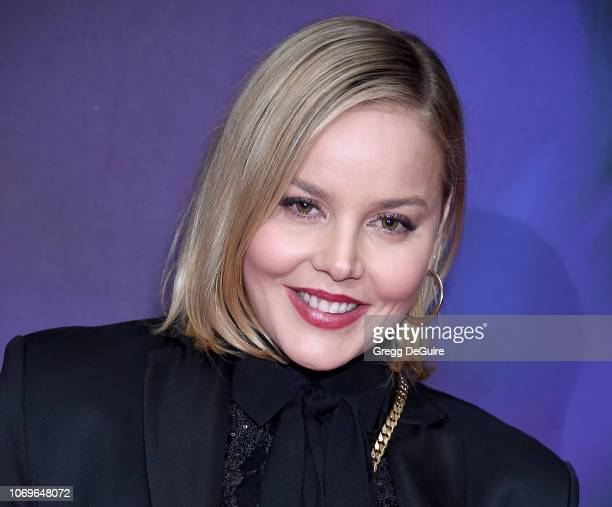 Abbie Cornish arrives at the Screening Of 'Perfect' at The WGA Theater on December 7 2018 in Beverly Hills California
