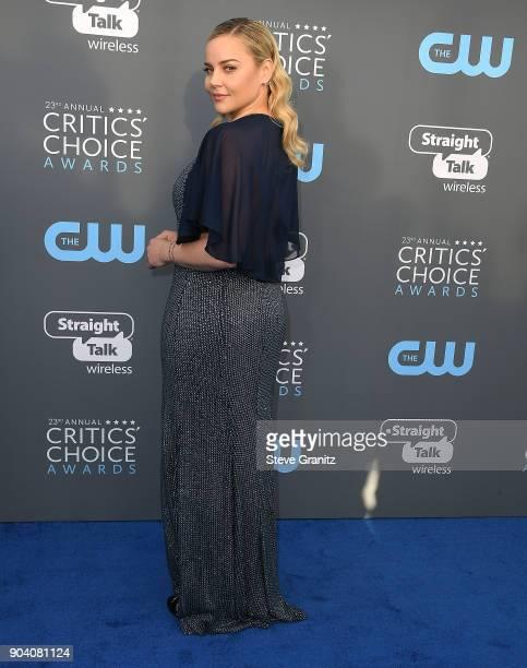 Abbie Cornish arrives at the The 23rd Annual Critics' Choice Awards at Barker Hangar on January 11 2018 in Santa Monica California