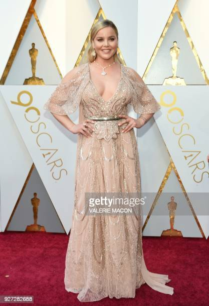 Abbie Cornish arrives for the 90th Annual Academy Awards on March 4 in Hollywood California / AFP PHOTO / VALERIE MACON