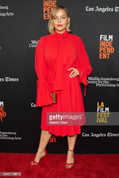 Abbie Cornish arrives for the LA Film Festival gala screening of National Geographic Documentary Films 'Free Solo' at at Wallis Annenberg Center for...