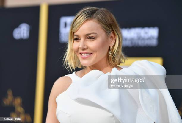 Abbie Cornish arrives on the red carpet at the Premiere Of Warner Bros Pictures' 'A Star Is Born' at The Shrine Auditorium on September 24 2018 in...