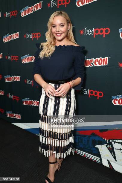 Abbie Cornish attends Amazon Prime Video's Tom Clancy's Jack Ryan Comic Con 2017 Press Room at The Jacob K Javits Convention Center on October 7 2017...