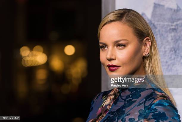 Abbie Cornish attends Premiere Of Warner Bros Pictures' Geostorm Arrivals at TCL Chinese Theatre on October 16 2017 in Hollywood California