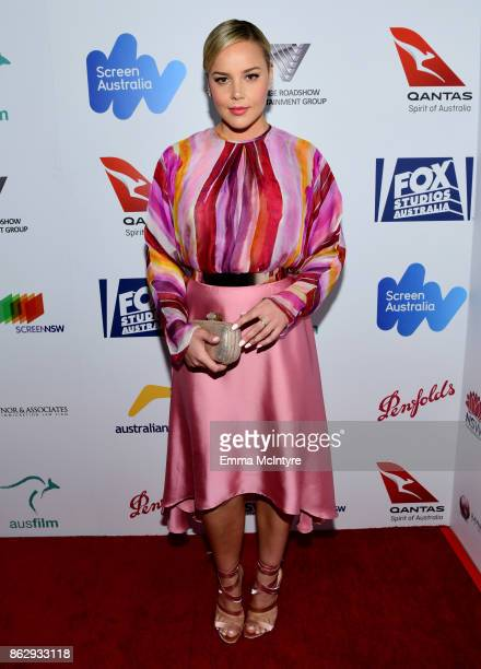 Abbie Cornish attends the 6th Annual Australians in Film Award Benefit Dinner at NeueHouse Hollywood on October 18 2017 in Los Angeles California