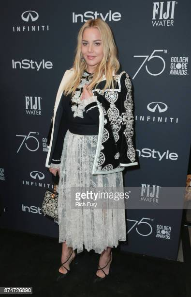 Abbie Cornish attends the Hollywood Foreign Press Association and InStyle celebrate the 75th Anniversary of The Golden Globe Awards at Catch LA on...