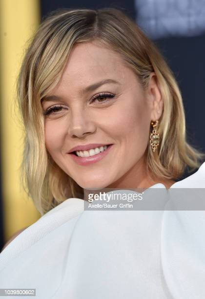 Abbie Cornish attends the premiere of Warner Bros Pictures' 'A Star Is Born' at The Shrine Auditorium on September 24 2018 in Los Angeles California