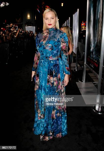 Abbie Cornish attends the premiere of Warner Bros Pictures 'Geostorm' at TCL Chinese Theatre on October 16 2017 in Hollywood California