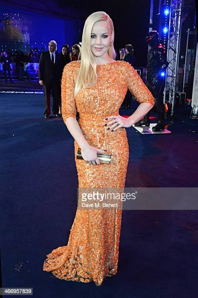 Abbie Cornish attends the World Premiere of 'RoboCop' at the BFI IMAX on February 5 2014 in London England