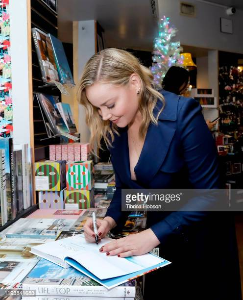 Abbie Cornish celebrates her new book 'Pescan A Fell Good Cookbook' at Book Soup on December 13 2019 in West Hollywood California
