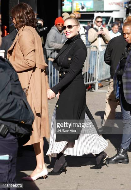 Abbie Cornish is seen on April 04 2019 in New York City