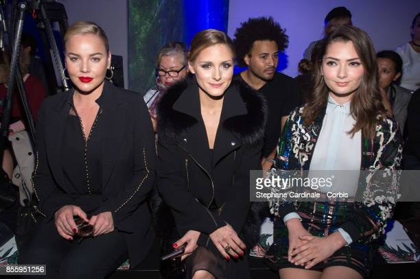 Abbie Cornish Olivia Palermo and Emily Robinson attends the Elie Saab show as part of the Paris Fashion Week Womenswear Spring/Summer 2018 at on...