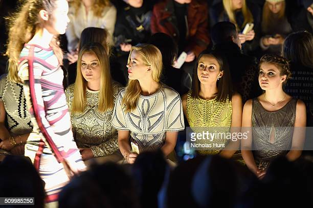 Abbie Cornish Petra Nemcova Annet Mahendru and Sami Gayle attend the Herve Leger By Max Azria Fall 2016 fashion show during New York Fashion Week The...