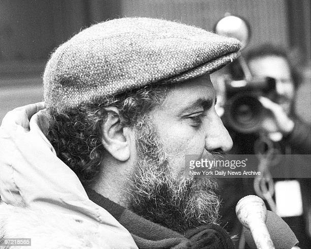 Abbie Hoffman enters Police Headquarters to apply for access to surveillance files kept on him in his younger days