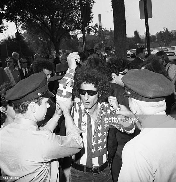 Abbie Hoffman is arrested while trying to interrupt a meeting of a subcommittee of the House Committee on UnAmerican Activities which is...
