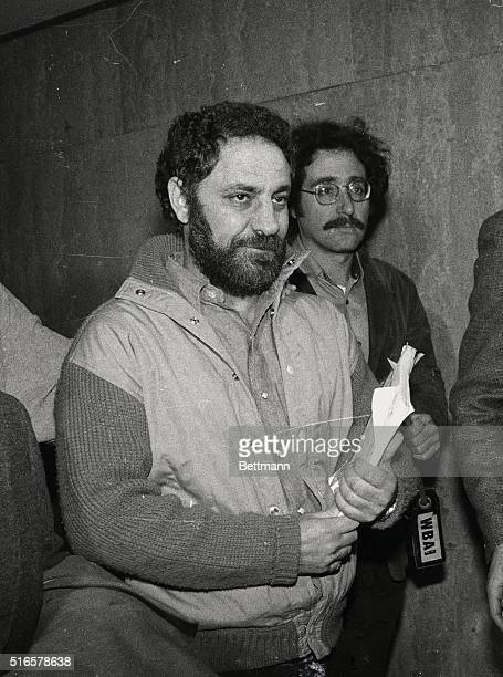 Abbie Hoffman the 1969 Yippie leader who spent six years on the run arrives with his wife Johanna at Criminal court for sentencing He faces up to...