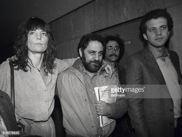 Abbie Hoffman the 1969 Yippie leader who spent six years on the run arrives at Criminal court with his wife Johanna for sentencing He faces up to...