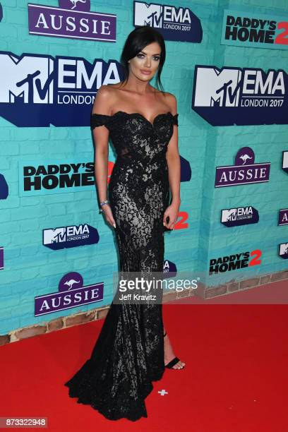 Abbie Holborn attends the MTV EMAs 2017 held at The SSE Arena Wembley on November 12 2017 in London England