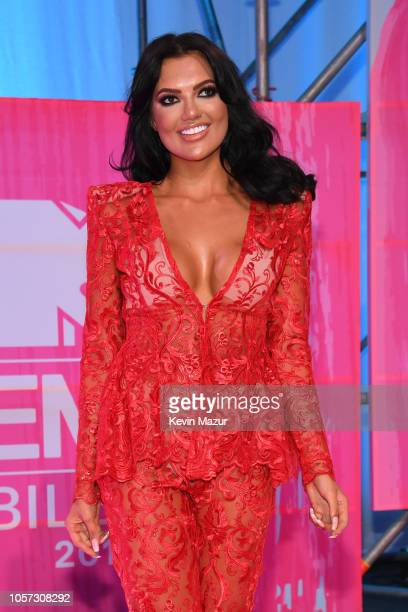 Abbie Holborn attends the MTV EMAs 2018 at Bilbao Exhibition Centre on November 4 2018 in Bilbao Spain