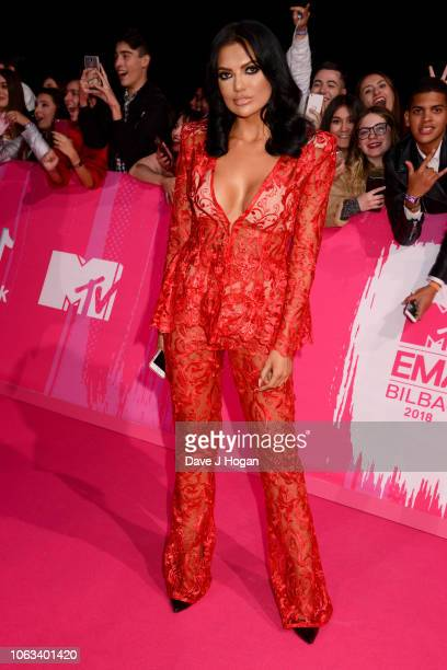 Abbie Holborn attends the MTV EMAs 2018 at the Bilbao Exhibition Centre on November 04 2018 in Bilbao Spain